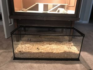Long Reptile tank 15 length, 12 width, 13 height. Will include fairly new thermometer. Sliding cover ripped on one end. for Sale in Madison Heights, VA