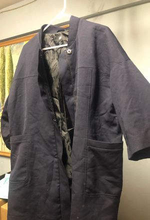 Oversized coat with zipper and clasps (all size) for Sale in Colton, CA