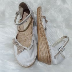 Toni Pons White Espadrille Wedges for Sale in Salem,  OR