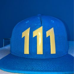 Fallout 4 Vault 111 Bethesda Vegan Leather Bright Blue Snapback Cap OSF (Pre Owned BY A LEGEND) for Sale in Willow Grove,  PA