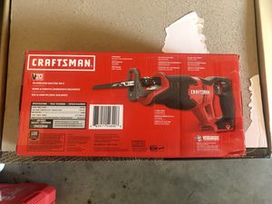 CRAFTSMAN V20 20-Volt Max Variable Speed Cordless Reciprocating Saw for Sale in Fresno, CA