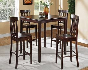 """Brand new 42"""" x 42"""" brown all wood pub high dining set for Sale in San Diego, CA"""