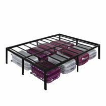 """🔥New 18"""" Metal bed frame QUEEN, black🔥 for Sale in El Paso, TX"""