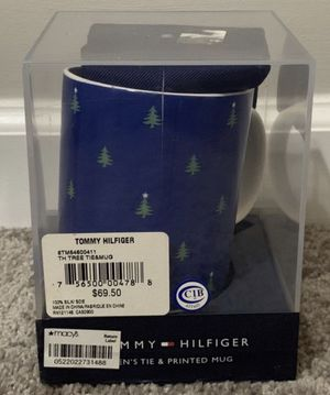 New Sealed Box Tommy Hilfiger Men's Tie & Holiday Christmas In July Printed Home Office Coffee Tea Mug for Sale in Chapel Hill, NC