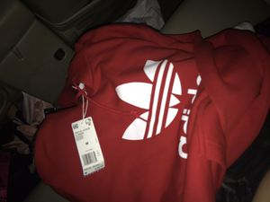Size medium red adidas hoodie for Sale in South San Francisco, CA