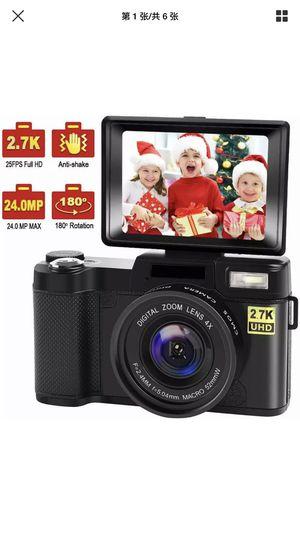 Digital Camera Vlogging Camera with Flip Screen for Youtube 24MP 2.7K (Black) for Sale in Philadelphia, PA