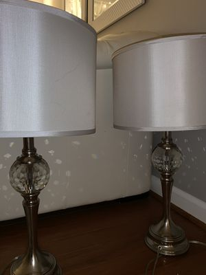 Crystal Lamps with shades for Sale in Lorton, VA