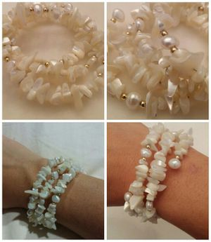 Freshwater and Mother of Pearl spiral bracelet for Sale in Leavenworth, WA