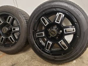 "16"" Wheels 5 Lugs Like brand new tires 255/50/16 Ford Jeep Chevy Dodge for Sale in Cranston, RI"