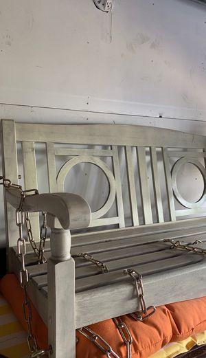 Light Gray Swinging Bench: not used for Sale in Alexandria, VA