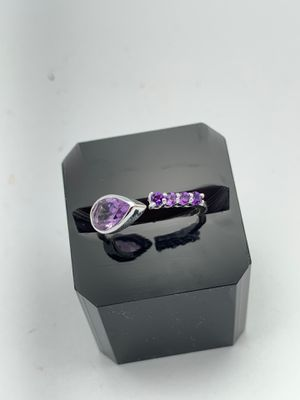 Authentic Sterling Silver Designer Amethyst ring for Sale in Lutz, FL