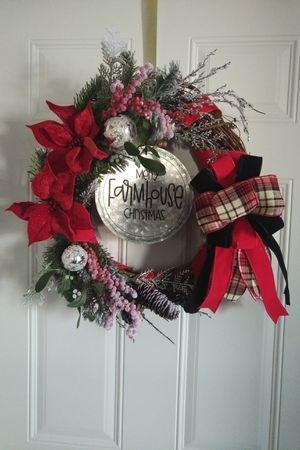 Merry Farmhouse Christmas Grapevine Wreath for Sale in Rhinelander, WI