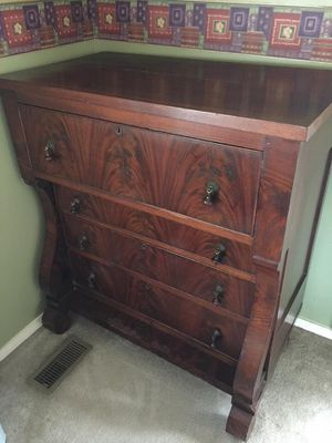 RARE Antique 19th Century Empire Tall Dresser for Sale in Greer, SC