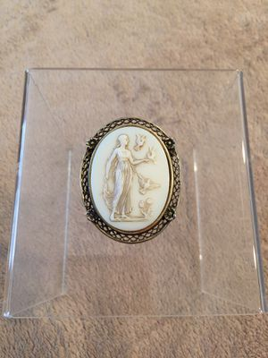 Vintage antique Milk glass cameo brooch for Sale in Boca Raton, FL