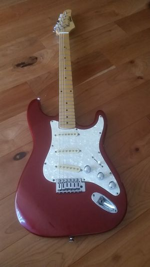 Red and White Electric Guitar for Sale in Northville, MI