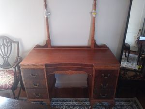 Beautiful Antique vanity with mirror/bench seat. for Sale in Austell, GA