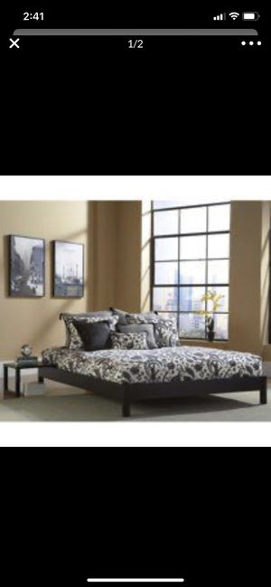 New in box Twin bed frame color is black for Sale in Milwaukee, WI