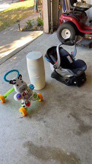 Car seat, walker and diaper genie for Sale in Arlington, TX