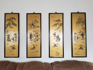 Oriental chinese four seasons wall art for Sale in Chesapeake, VA