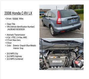 Honda crv 2008 . Atomatic. clean title for Sale in Franklin, TN