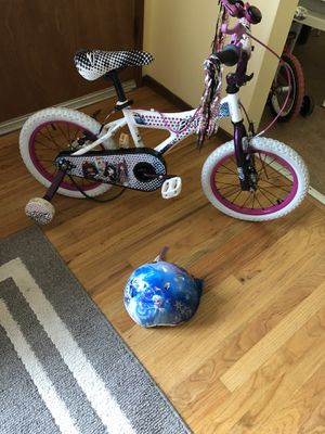 Little Girl Bicycle (Bratz) and Helmet (Frozen) for Sale in Portland, OR