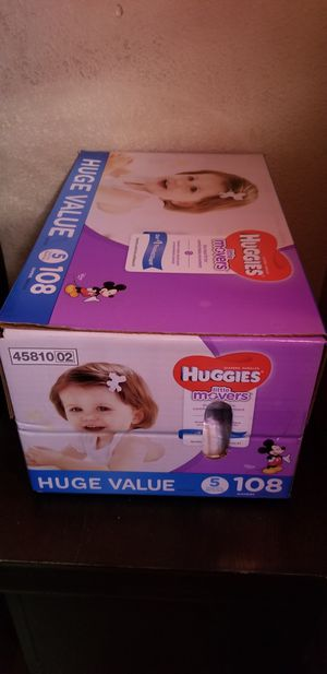 Huggies little movers size 5 108 daipers $33 firm price for Sale in Los Angeles, CA
