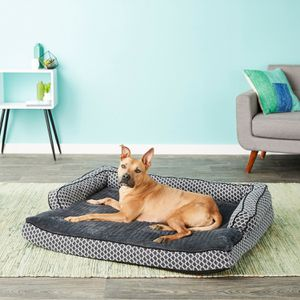 FurHaven Comfy Orthopedic Sofa Dog Bed, Diamond Gray, Jumbo for Sale in Passaic, NJ