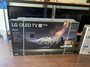 LG OLED C9 AI THIN Q SMART 4K BRAND NEW HUGE SALE TVS NO STAND SALE 1 YEAR WARRANTY for Sale in Alhambra, CA