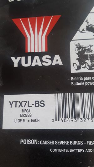 Motorcycle battery. Honda Yamaha Kawasaki Suzuki for Sale in Mesa, AZ