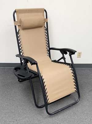 New $35 each Adjustable Zero Gravity Lounge Chair Recliner for Patio Pool w/ Cup Holder (2 Colors) for Sale in El Monte, CA