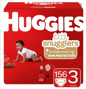 Huggies size 3. 156 Diapers for Sale in Wichita, KS