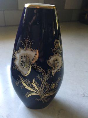 Cobalt/Gold Flower/Butterfly Bud Vase for Sale in Sheboygan, WI