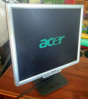 Flatscreen LCD Computer Monitor by Acer - 17 inch screen for Sale in Indianapolis, IN