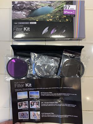67mm and 58mm lens accessories & filters, flash bracket for Sale in DEVORE HGHTS, CA