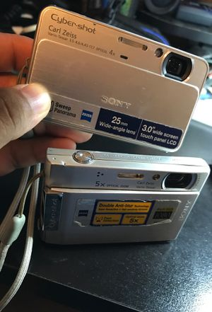Cyber shot Sony digital cameras both for Sale in Greensboro, NC