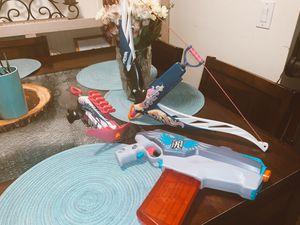3 girl nerf guns for Sale in Sarasota, FL