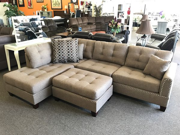 Sectional sofa with ottoman on sale only at elegant Furniture 🛋🎈