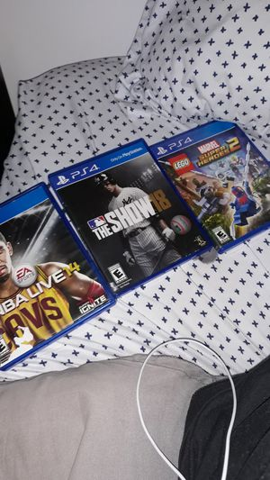 NBA Live 14 Ps4 and the show 18 Ps4 and Marvel Lego super heroes 2 Ps4 for Sale in Baltimore, MD