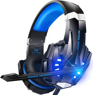 BENGOO G9000 Stereo Gaming Headset for PS4, PC, Xbox One Controller, Noise Cancelling Over Ear Headphones with Mic (Blue) for Sale in Stockton, CA