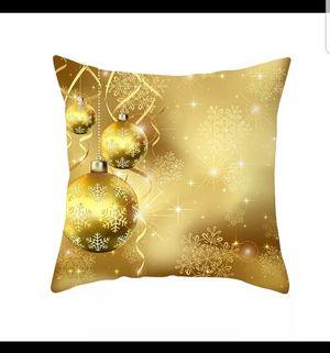 Christmas Pillow Case Glitter Polyester Sofa Throw Cushion Cover Home Decor Funda Cojin Throw Pillows Christmas Pillow Covers for Sale in Long Beach, CA