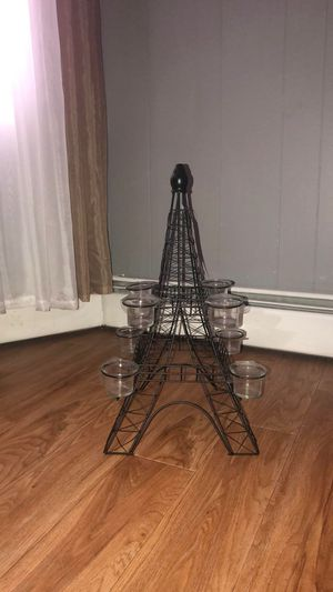 6 Eiffel Tower Metal Candle Holders - READ DESCRIPTION for Sale in Methuen, MA