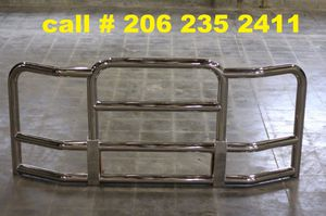 Stainless steel semi truck grille guard for Volvo, Freightliner, Peterbuilt, Kenworth semi trucks for Sale in Des Moines, WA