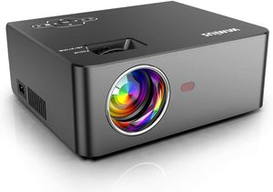 """WiFi Mini Projector 5500Lux HD, Built-in 5W Speaker, 2X Louder, Home & Outdoor Movie Projector Support 1920 x 1080P 200"""" Screen for Sale in Syosset, NY"""