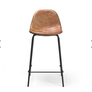 Vintage Cognac Leatherette Counter Stool (Set of 2) for Sale in Jersey City, NJ
