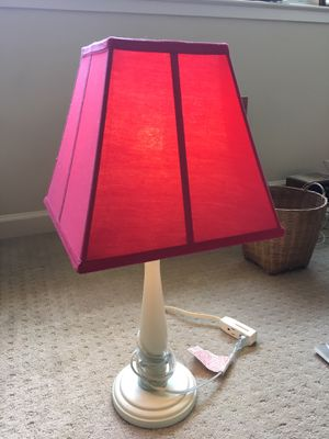 Red Shade, white base Pottery Barn lamp for Sale in Mill Valley, CA