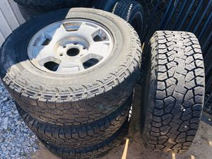 17 inch Stocks $500 new tires Tires size and rims 265/70r17 for Sale in Ceres, CA