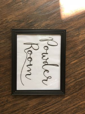 Powder room wall decor for Sale in Greer, SC
