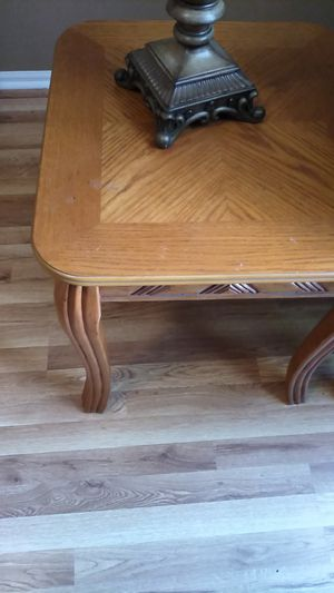 Two very sturdy and tables oak $20 for both for Sale in Tuckerton, NJ