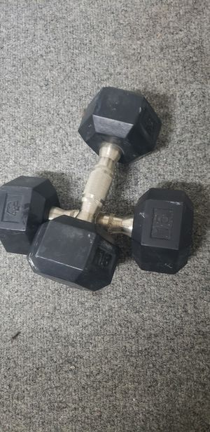 Set of 15 lbs dumbells for Sale in Miami, FL