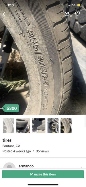 mustang tires for Sale in Fontana, CA